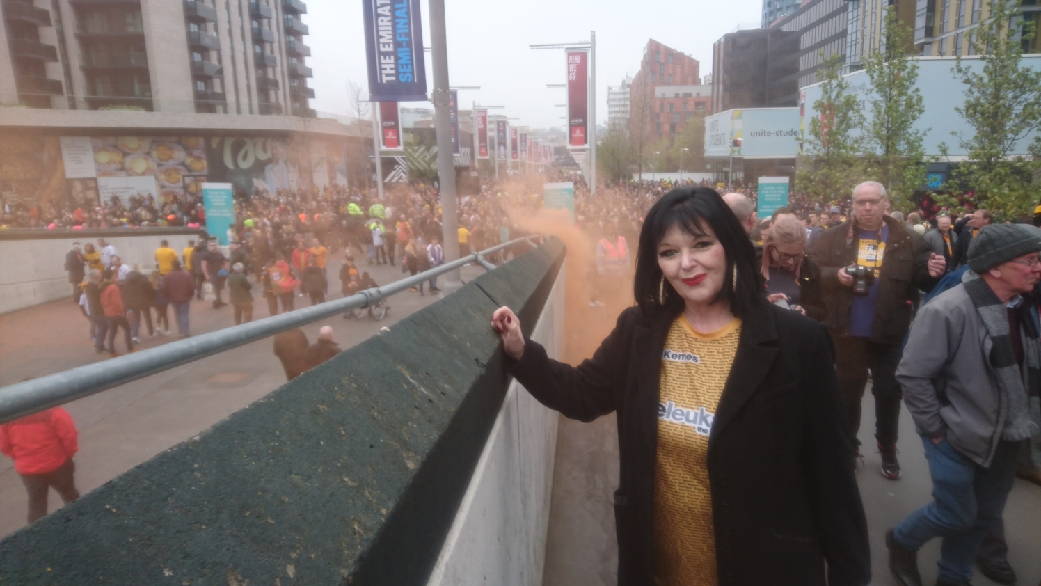 Claire on Wembley Way